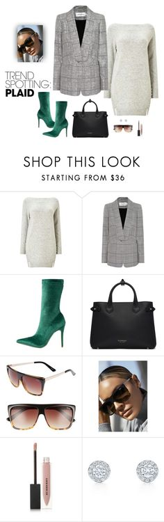 """""""Plaid trendy"""" by speakwithstyle ❤ liked on Polyvore featuring Miss Selfridge, self-portrait, Public Desire, Burberry, Quay, contestentry and NYFWPlaid"""