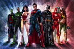 Superman, Batman, Wonder Woman & More Assemble In Brilliant 'Justice League' Painting