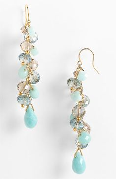 Nordstrom Crystal Collection 'Beach Glass' Cluster Earrings #nordstrom