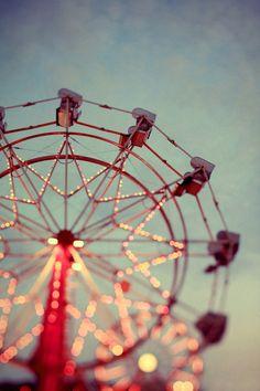 Ferris Wheel Photograph - Carnival Art - Fair Print - Summer Photograph - I Wish I May - Fine Art Photograph - Oversized Art - Blue Print Summer Of Love, Summer Fun, Summer Nights, Pink Summer, Late Summer, Carrousel, Foto Art, Jolie Photo, Pics Art