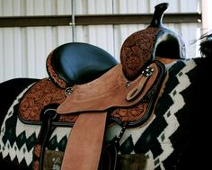 rodeobarrelracer:    My new barrel saddle.