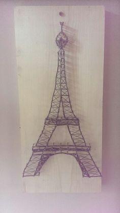 Diy Eiffel tower string art