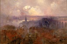 Newcastle upon Tyne from the East, 1898, by Niels Moller Lund. From the collection of the Laing Art Gallery, Newcastle upon Tyne.