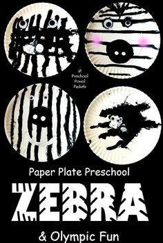 Zebra Art Project | Preschool Powol Packets