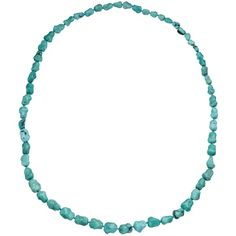 Cobra & Bellamy Turquoise Nugget Bead Long Necklace ($770) ❤ liked on Polyvore featuring jewelry, necklaces, long beaded necklace, long jewelry, beading necklaces, long necklace and beaded jewelry