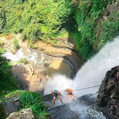 Torrentismo por la cascada de Juan Curi San Gil, Niagara Falls, Architecture, Nature, Sports, Saints, Extreme Sports, Mountain Range, Bucaramanga