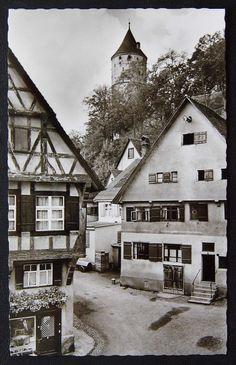 Biberach Riß um1960 mit Ladengeschäft Am Weberberg - AK Baden-Württemberg