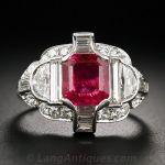 Burma Ruby platinum and diamond ring.♥