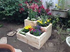 Four Tier Garden Planter Box for Herbs by BrightValleyGardens, $139.99