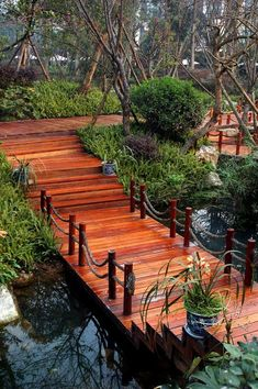 If you have a pond or a creek in your yard you might need a well-built bridge. Browse throughout these neat Garden Bridge Designs we've…