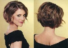 I will be doing something like this the next time I cut my hair.  Short stacked bob haircut by DenyMacMart