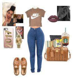 """"""""""" by neka3170 on Polyvore featuring NIKE, Casetify, MCM, Puma, Susan Caplan Vintage, Charlotte Russe, Lime Crime and Rolex"""