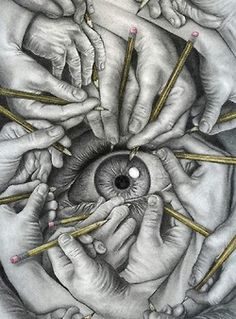 who is creating your point of view?/Amazing drawing, and interesting way to illustrate the question. Asw
