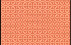 Michael Miller Shark Tooth Fabric in Orange. By The Metre in Crafts, Sewing & Fabric, Fabric | eBay