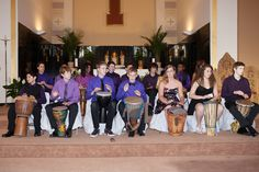 Our 2013-14 8th grade graduates perform on their drums at their graduation ceremony.