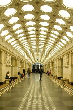 #Russia, Moscow Metro - I remember being 21yo....and walking thru this train station in awe.....