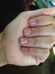 #shellac #nails #glitter #pretty #mani
