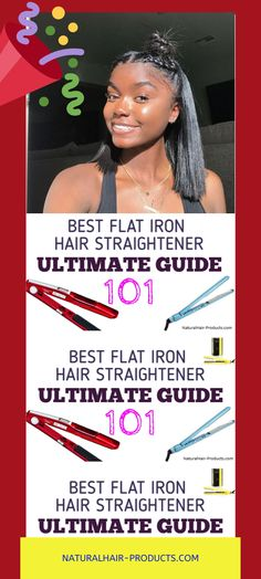 I feel that you'll agree with me when I say:  It's REALLY hard to decide which is the best flat iron hair straightener to get you the cutest results ever.  Or is it?  Well, it turns out, you can dramatically increase your knowledge by viewing this ONE complete guide...  ...a detail-filled flat iron guide that literally covers EVERY best-selling hair straightener brand on Earth! Just so you can have a Good Hair Day, everyday... Natural Hair Types, Natural Hair Braids, Natural Hair Care Tips, Curly Hair Tips, Hair Straightener Reviews, Mason Pearson Brush, Flat Iron Tips, Hair Straightening Iron, Best Flats