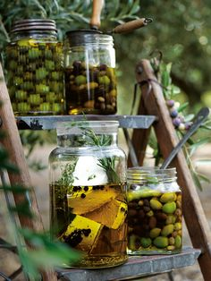 Donna Hay's Warm Olive Oil Marinated Olives & Bay Leaf and Thyme Confit Feta Olive Recipes, Light Recipes, Appetizer Table Display, Madeira Cake Recipe, Feta, Donna Hay Recipes, Marinated Olives, Lemon Olive Oil, Bay Leaves