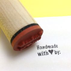 Super cute for packaging!   Handmade with Love Rubber Stamp by RADstamps on Etsy, $3.75