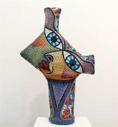 """Deborah Halpern """"Silk Scarf"""", steel, fibreglass & tile -"""