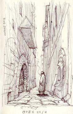 Life of a Sketchbook by Antonio Caparo, via Behance