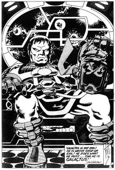 Galactus by John Byrne from 1974 for CPL fanzine.