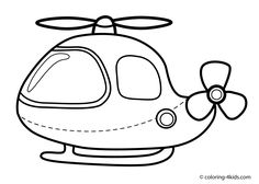 helicopter coloring page for kids transportation coloring pages printables