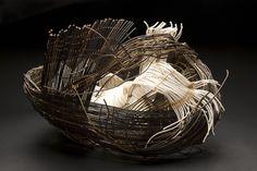 Mayumi Tsukuda Wrap , 2005 Nito vine, paper cord, wax linen 16.93 x 16.93 x 15.75 inches / 43 x 43 x 40 cm / MTk 2