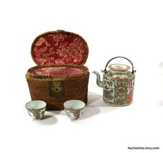 1870s Picnic Set Rose Medallion High Tea Set in by Nachokitty