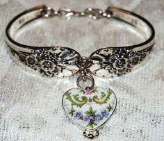 Spoon Bracelets Silver Spoon Bracelets Broken China Jewelry and Charms