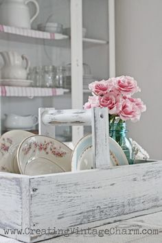 Creating Vintage Charm...love this chippy caddy.