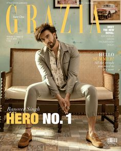 News Aap Tak : Ranveer Singh looks dashing hot in the latest cover of Grazia Models Men, Male Models Poses, Male Poses, Poses For Men, Boy Poses, Bollywood Actors, Bollywood Celebrities, Ranveer Singh Hairstyle, Indian Male Model