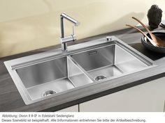 Spülbecken küche edelstahl  Blanco Divon II 6 S-IF Küchenspüle Edelstahl-Spüle Spülbecken ...