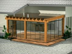 The pergola kits are the easiest and quickest way to build a garden pergola. There are lots of do it yourself pergola kits available to you so that anyone could easily put them together to construct a new structure at their backyard. Diy Pergola, Pergola With Roof, Covered Pergola, Pergola Shade, Patio Roof, Backyard Patio, Backyard Landscaping, Pergola Screens, Privacy Screens