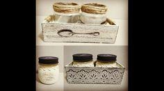 Tarros de cristal y cajas de madera decorados - colaboración con MYBA