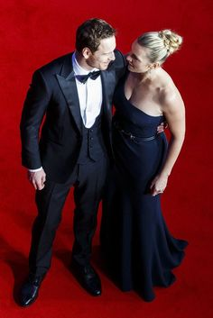 Michael Fassbender and Kate Winslet at the BAFTAs
