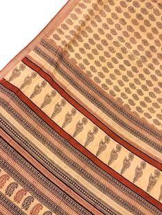 Antique Vintage Pure Silk Sari Printed Deco Wrap, Clothing, Curtain Drape Used Sarong Saree 5Yd PSS1090
