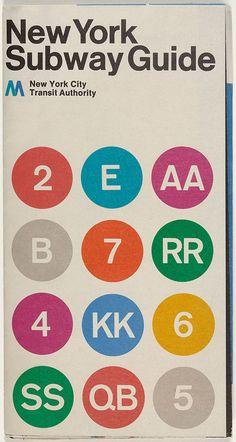 Cover of New York subway diagram designed in 1970.