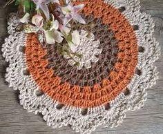 - Home Decor Crochet Circles, Crochet Mandala, Filet Crochet, Doily Patterns, Crochet Patterns, Crochet Placemats, Crochet Dollies, Crochet Fall, Crochet Home Decor