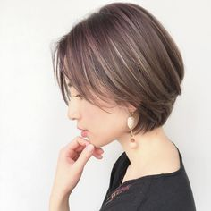 Cut and color 2015 Hairstyles, Short Bob Hairstyles, Shot Hair Styles, Curly Hair Styles, Girl Short Hair, Short Hair Cuts, Covering Gray Hair, My Hairstyle, Great Hair