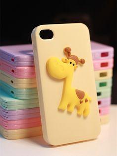 The giraffe cartoon iphone 5s cases