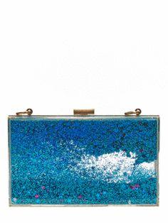 615d478ec4 Skinnydip Blue Glitter Clutch Ongles Fondu De Paillettes, Paillettes Bleues,  Pochette À Paillettes,