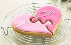 Cute puzzle valentine cookie