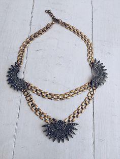 Starry nights necklace - Black