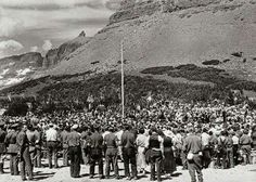 Dedication of the Going-to-the-Sun road July 1933 Montana Ranch, Montana Homes, Glacier National Park Montana, Big Sky Country, July 15, Amazing Places, Old Photos, Places To See, Affair