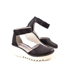 Fly London Yand Ankle Strap Sandals with Contrast Wedge | rubyshoesday