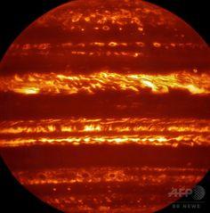 AFPBB News @afpbbcom 6月28日 木星の新赤外線画像、探査機ジュノー到達迫る