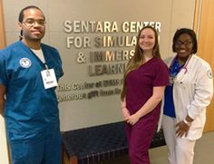TCC students Jeremy Watt (radiography), Hannah Seemueller (medical laboratory technology) and Tyshia Fisher (nursing).