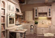 Mobile alto color avorio da cucina in mango L 100 cm | Cucina